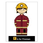Cute Fireman Poster (Small)