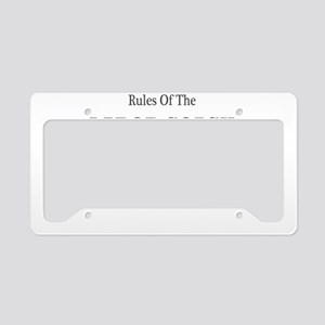 Rules of the Labor Coach License Plate Holder