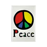 Flowing Peace Colour Rectangle Magnet (10 pack)