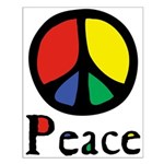 Flowing Peace Colour Small Poster