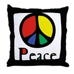 Flowing Peace Colour Throw Pillow