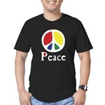 Flowing Peace Colour Men's Fitted T-Shirt (dark)