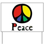 Flowing Peace Colour Yard Sign