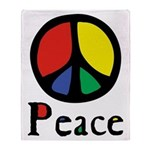 Flowing Peace Colour Throw Blanket