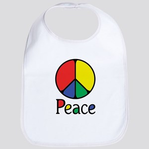 Emphatic Peace Colours Bib