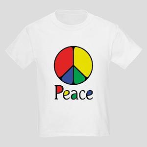 Emphatic Peace Colours Kids Light T-Shirt