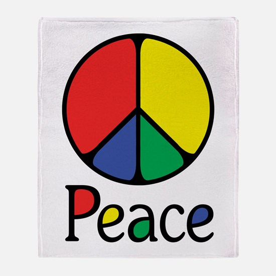 Emphatic Peace Colours Throw Blanket