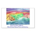Santa Cruz Island, California Sticker (Rectangle)