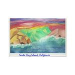 Santa Cruz Island, California Rectangle Magnet (10