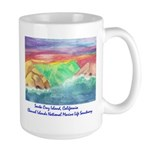 Santa Cruz Island, California Large Mug