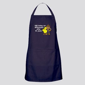 10th Anniversary Funny Chick and Nut Apron (dark)