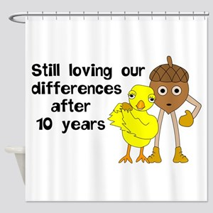 10th Anniversary Funny Chick and Nu Shower Curtain