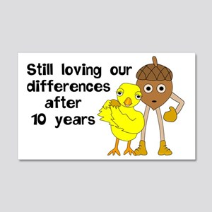 10th Anniversary Funny Chick and 20x12 Wall Decal