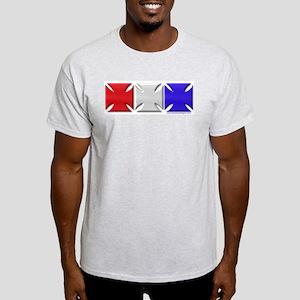 Iron Crosses USA 3D Ash Grey T-Shirt