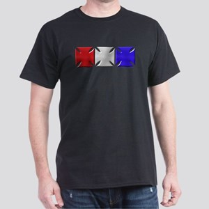 Iron Crosses USA 3D Black T-Shirt