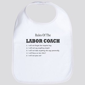 Rules of the Labor Coach Baby Bib