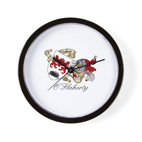 O'Flaherty Family Coat of Arms Wall Clock