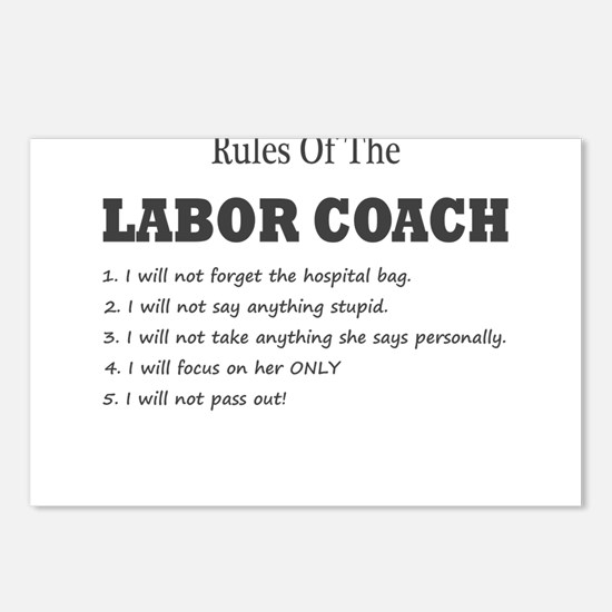 Rules of the Labor Coach Postcards (Package of 8)