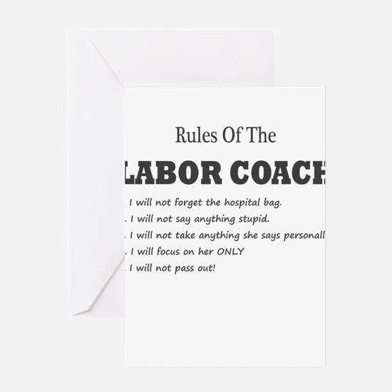 Rules of the Labor Coach Greeting Cards