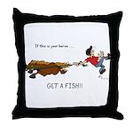Horse or Fish! Throw Pillow