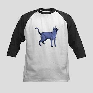 Russian Blue Cat Portrait Kids Baseball Jersey