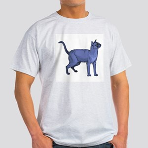 Russian Blue Cat Portrait Ash Grey T-Shirt