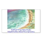 North Beach, Pt. Reyes, CA Sticker (Rectangle 50 p
