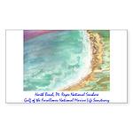 North Beach, Pt. Reyes, CA Sticker (Rectangle)