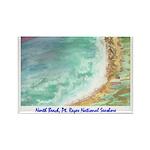North Beach, Pt. Reyes, CA Rectangle Magnet (100 p