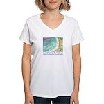 North Beach, Pt. Reyes, CA Women's V-Neck T-Shirt