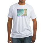 North Beach, Pt. Reyes, CA Fitted T-Shirt