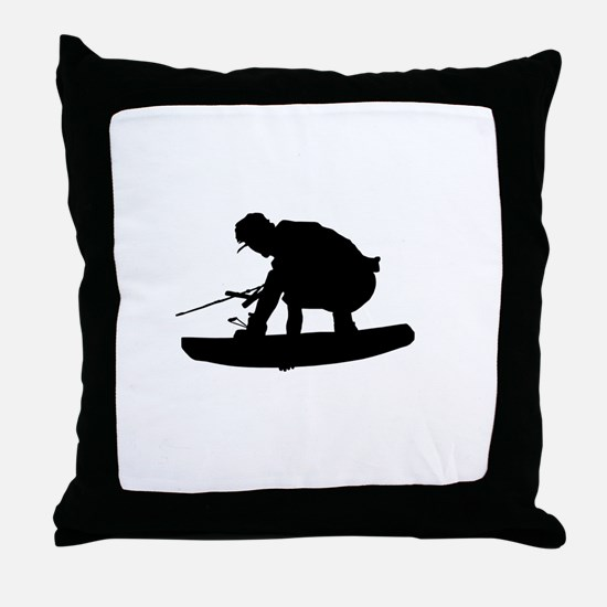 Wakeboard Air Stalefish Throw Pillow