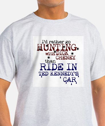 Hunting with Cheney - Ash Grey T-Shirt