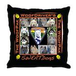Meet The SweatDogs Throw Pillow