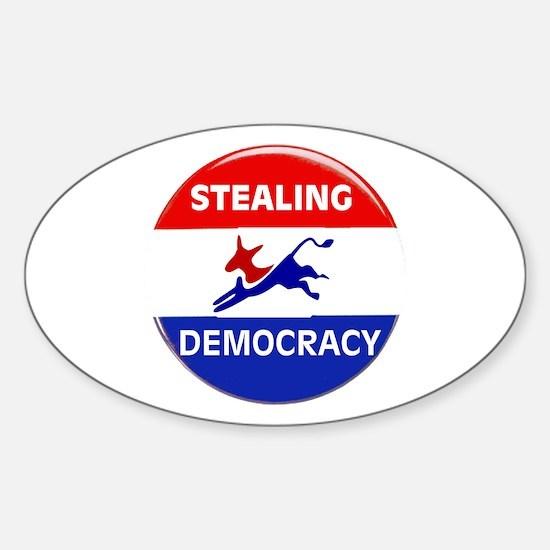 EXTINGUISH DEMOCRATS Sticker (Oval 10 pk)