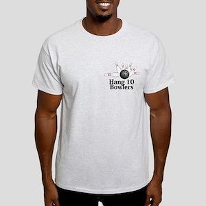 Hang 10 Bowlers Logo 2 Light T-Shirt Design Front
