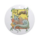 Librarian dragon Round Ornaments