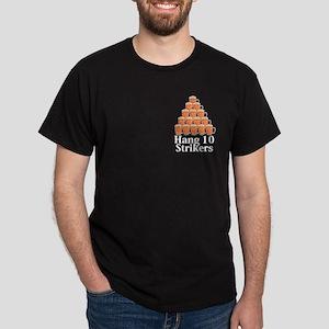 Hang 10 Strikers Logo 7 Dark T-Shirt Design Front