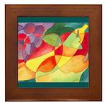 Fruit Watercolor Framed Tile