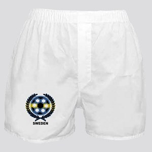 Sweden World Cup Soccer Wreath Boxer Shorts
