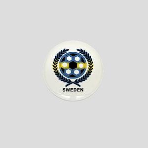 Sweden World Cup Soccer Wreath Mini Button