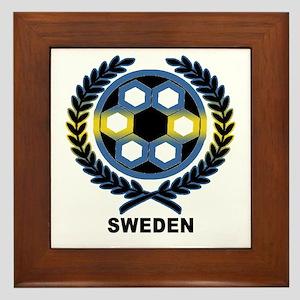 Sweden World Cup Soccer Wreath Framed Tile