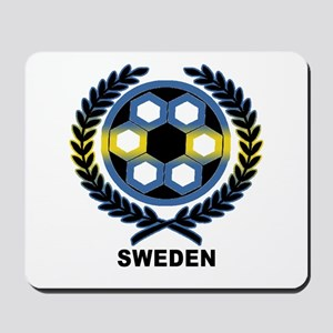 Sweden World Cup Soccer Wreath Mousepad