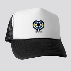 Sweden World Cup Soccer Wreath Trucker Hat