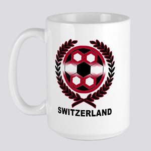 Switzerland World Cup Soccer Wreath Large Mug