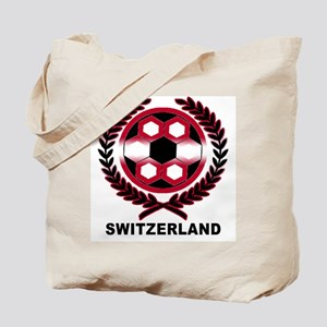 Switzerland World Cup Soccer Wreath Tote Bag