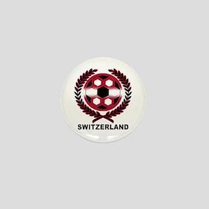 Switzerland World Cup Soccer Wreath Mini Button