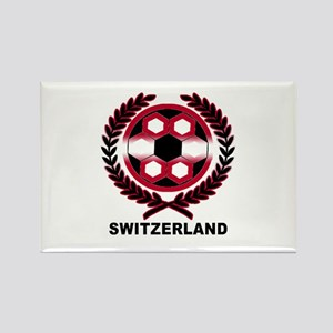 Switzerland World Cup Soccer Wreath Rectangle Magn