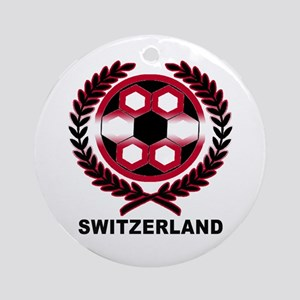 Switzerland World Cup Soccer Wreath Ornament (Roun