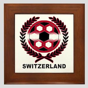 Switzerland World Cup Soccer Wreath Framed Tile
